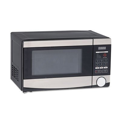 07-Cuft-Capacity-Microwave-Oven-700-Watts-Stainless-Steel-and-Black-0