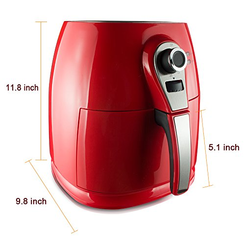 1400W-Air-fryer-Healthy-Smokeless-Low-Fat-Non-stick-Multi-Cooker-Oilless-Cooker-4L-38QT-Capacity-with-Timer-and-Temperature-Control-and-Detachable-Basket-Handles-Red-0-0
