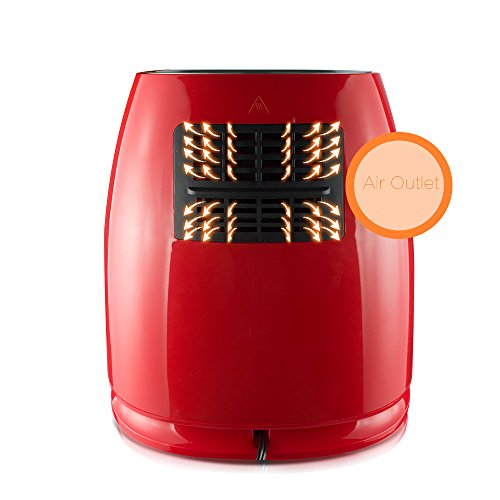 1400W-Air-fryer-Healthy-Smokeless-Low-Fat-Non-stick-Multi-Cooker-Oilless-Cooker-4L-38QT-Capacity-with-Timer-and-Temperature-Control-and-Detachable-Basket-Handles-Red-0-1