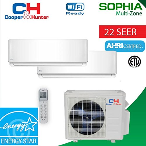 18000-BTU-2-Zone-Ductless-Mini-Split-21-SEER-Sophia-WiFi-Ready-0