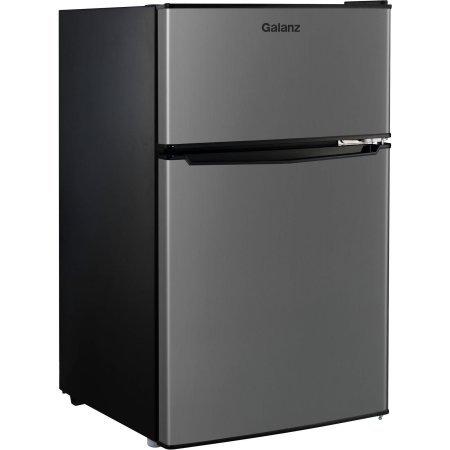 2-Door-Stainless-Steel-Dorm-Size-Refrigerator-0-0