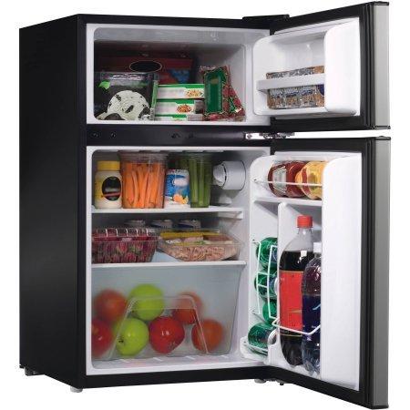 2-Door-Stainless-Steel-Dorm-Size-Refrigerator-0