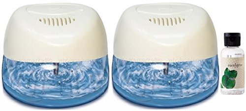 2-New-Fresh-Aire-Machines-with-Rainbow-Rainmate-Eucalyptus-Fragrance-White-Color-with-6-LED-Color-Changing-Lights-0