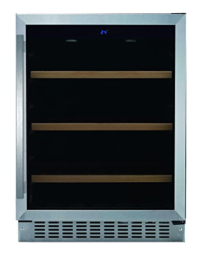 24-Under-Counter-Beverage-Center-with-LED-Display-Sabbath-Mode-and-Door-Alarm-Stainless-SteelGlass-0