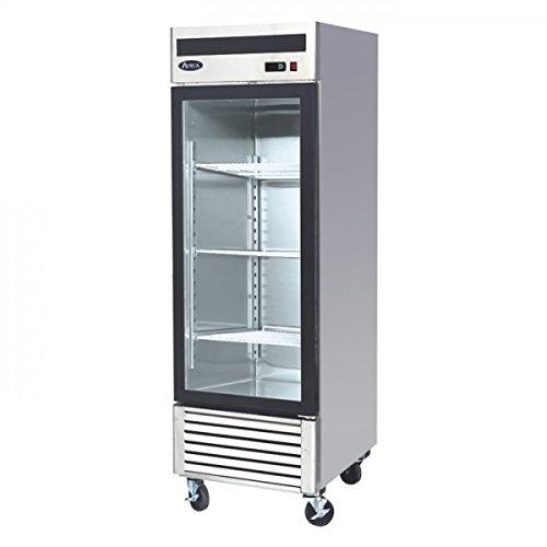 27-1-Door-Upright-Stainless-Steel-Glass-Window-Reach-In-Freezer-Merchandiser-Display-Case-MCF8701-21-Cubic-Feet-Commercial-Grade-0-0