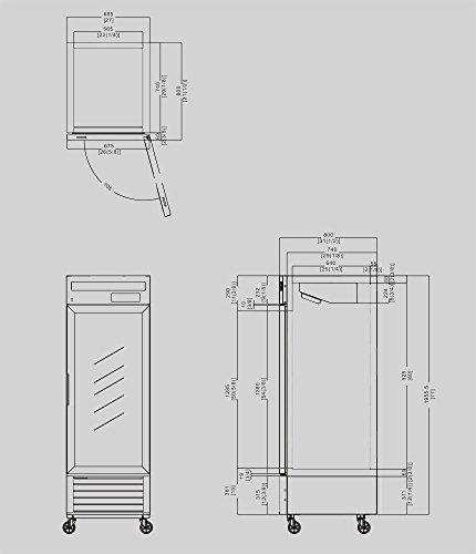 27-1-Door-Upright-Stainless-Steel-Glass-Window-Reach-In-Freezer-Merchandiser-Display-Case-MCF8701-21-Cubic-Feet-Commercial-Grade-0-1