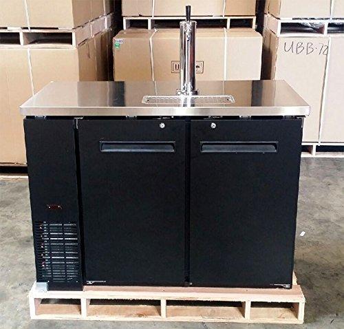 48-Single-Tap-Keg-Beer-Can-Bottle-Dispenser-Refrigerator-Stainless-Steel-Top-UDD-24-48-Kegerator-Fridge-0
