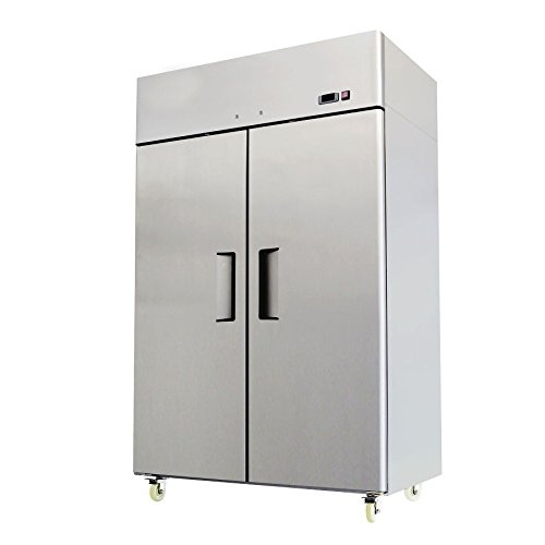 52-Double-2-Door-Side-By-Side-Stainless-Steel-Reach-in-Commercial-Refrigerator-49-Cubic-Feet-for-Restaurant-0