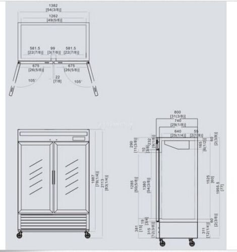 55-Inch-Glass-Two-Door-Merchandiser-Upright-Refrigerator-MCF-8707-Stainless-Steel-0-0