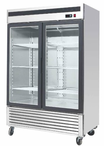 55-Inch-Glass-Two-Door-Merchandiser-Upright-Refrigerator-MCF-8707-Stainless-Steel-0