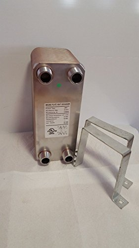 60-Plate-Water-to-Water-Brazed-Plate-1-MPT-Ports-W-NEW-STYLE-BRACKETS-0-0