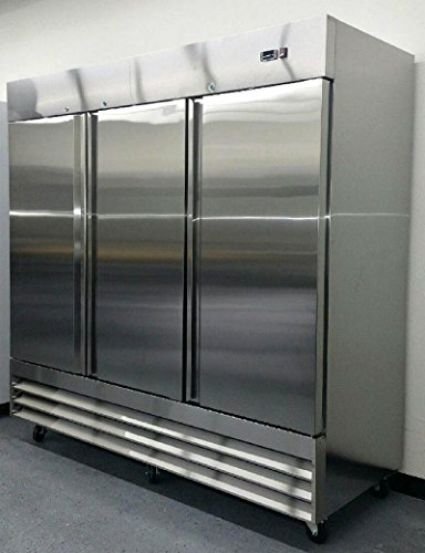 81-Freezer-Three-Locking-Doors-Commercial-Restaurant-72-Cu-Ft-304-Grade-Stainless-Steel-Digital-Control-9-Shelves-5-Year-Compressor-Warranty-CFD-3FF-0-0