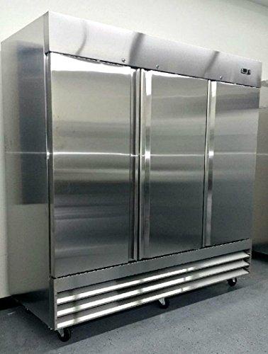 81-Freezer-Three-Locking-Doors-Commercial-Restaurant-72-Cu-Ft-304-Grade-Stainless-Steel-Digital-Control-9-Shelves-5-Year-Compressor-Warranty-CFD-3FF-0
