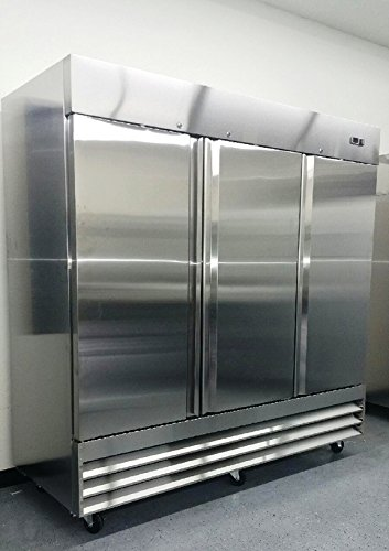 Air Dryer For Air Compressor >> 81″ Upright Stainless Steel 3 Door Commercial Freezer, 72 Cubic Feet, CFD-3FF, for Restaurant ...