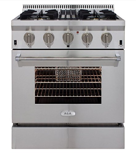 AGA-APRO30DFSS-30-Professional-Dual-Fuel-Range-with-RapidBake-Convection-Stainless-Steel-0