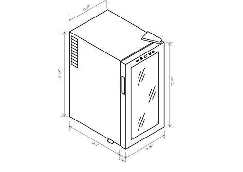 AKDY-18-Bottle-Single-Zone-Thermoelectric-Freestanding-Wine-Cooler-Cellar-Chiller-Refrigerator-Fridge-Quiet-Operation-0-0