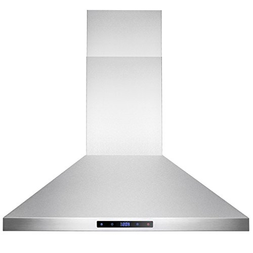 AKDY-30-Wall-Mount-Stainless-Steel-Touch-Control-Kitchen-Ductless-Range-Hood-w-LED-Lamps-0-1