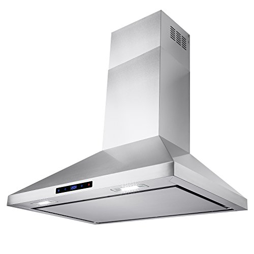 AKDY-30-Wall-Mount-Stainless-Steel-Touch-Control-Kitchen-Ductless-Range-Hood-w-LED-Lamps-0-2