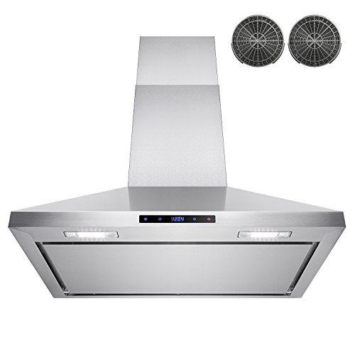 AKDY-30-Wall-Mount-Stainless-Steel-Touch-Control-Kitchen-Ductless-Range-Hood-w-LED-Lamps-0