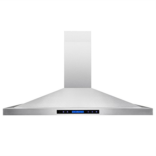 AKDY-42-Island-Mount-Stainless-Steel-Powerful-Motor-Touch-Screen-Control-Kitchen-Vents-Range-Hood-0-1