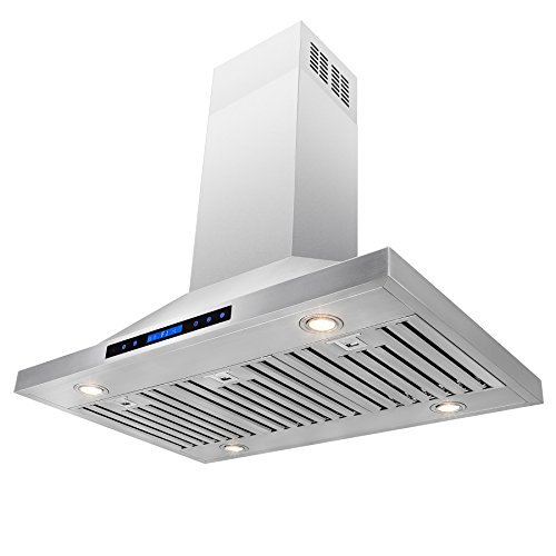 AKDY-42-Island-Mount-Stainless-Steel-Powerful-Motor-Touch-Screen-Control-Kitchen-Vents-Range-Hood-0-2