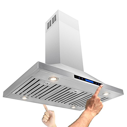 AKDY-42-Island-Mount-Stainless-Steel-Powerful-Motor-Touch-Screen-Control-Kitchen-Vents-Range-Hood-0