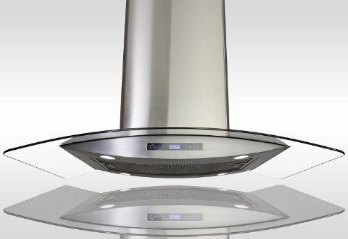AKDY-New-30-European-Style-Island-Mount-Stainless-Steel-Glass-Range-Hood-Vent-Touch-Control-AZ-688ICS14-30-0
