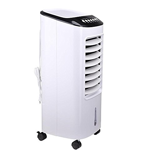 AMPERSAND-SHOPS-Portable-7-Liter-Capacity-Evaporative-Cooler-and-Humidifier-with-Timer-and-Remote-Control-0-0