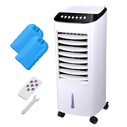 AMPERSAND-SHOPS-Portable-7-Liter-Capacity-Evaporative-Cooler-and-Humidifier-with-Timer-and-Remote-Control-0