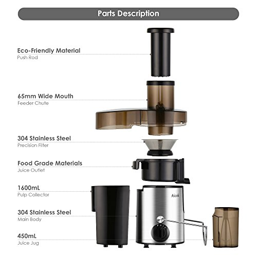 Aicok-Juicer-Juice-Extractor-High-Speed-for-Fruit-and-Vegetables-Dual-Speed-Setting-Centrifugal-Fruit-Machine-Powerful-400-Watt-with-Juice-Jug-and-Cleaning-Brush-Premium-Food-Grade-Stainless-Steel-0-1