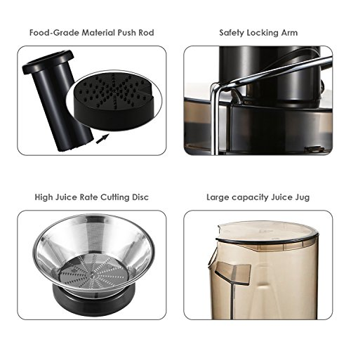 Aicok-Juicer-Juice-Extractor-High-Speed-for-Fruit-and-Vegetables-Dual-Speed-Setting-Centrifugal-Fruit-Machine-Powerful-400-Watt-with-Juice-Jug-and-Cleaning-Brush-Premium-Food-Grade-Stainless-Steel-0-2