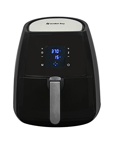 Air-Fryer-by-Avalon-Bay-For-Healthy-Fried-Food-37-Quart-Capacity-Includes-Free-Airfryer-Baking-Set-and-Recipe-Book-Black-AB-Airfryer220SS-0-0