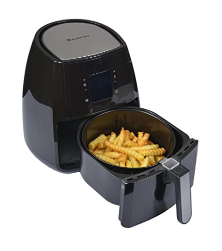Air-Fryer-by-Avalon-Bay-For-Healthy-Fried-Food-37-Quart-Capacity-Includes-Free-Airfryer-Baking-Set-and-Recipe-Book-Black-AB-Airfryer220SS-0-2