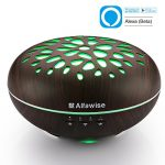 Alfawise-300ml-Essential-Oil-Diffuser-Aromatherapy-Humidifier-Works-with-Alexa-7-Colors-LED-Lights-Adjustable-Waterless-Auto-Shut-off-Mist-Aroma-for-Office-Home-Bedroom-Living-Room-Yoga-Spa-Salon-Use-0