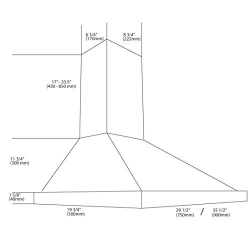 Ancona-Presto-Pyramid-White-Stainless-Steel-Wall-Mount-Range-Hood-0-1