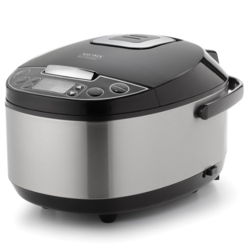 Aroma-Housewares-Professional-6-Cup-uncooked-rice-resulting-in-12-Cup-Cooked-rice-Rice-Cooker-Food-Steamer-Slow-Cooker-Stainless-Steel-Exterior-0
