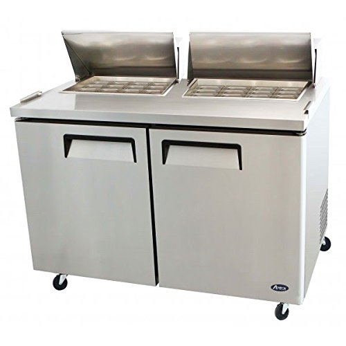 Atosa-USA-MSF8307-Stainless-Steel-Mega-Top-SandwichSalad-Prep-Table-60-Inch-Two-Door-Refrigerator-0