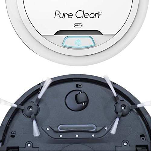 Automatic-Robot-Vacuum-Cleaner-Robotic-Auto-Home-Cleaning-for-Clean-Carpet-Hardwood-Floor-Robo-Vac-Bot-Self-Detects-Stairs-HEPA-Filter-Pet-Hair-Allergies-Friendly-PureClean-PUCRC25-White-0-0
