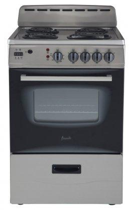 Avanti-ER24P3SG-24-Freestanding-Electric-Range-with-Deluxe-See-Thru-Glass-Oven-Door-in-Stainless-Steel-0