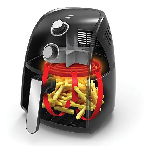 BELLA-14538-1500W-Electric-Hot-Air-Fryer-with-Removable-Dishwasher-Safe-Basket-25-L-Black-0-0