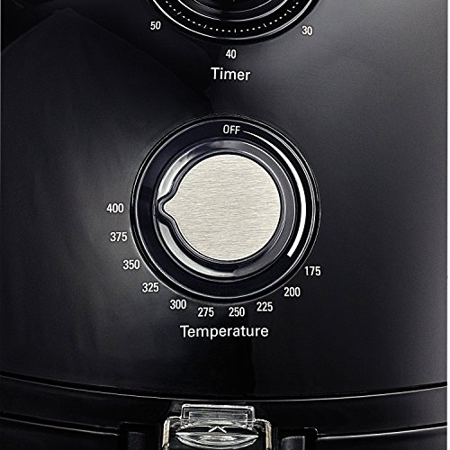 BELLA-14538-1500W-Electric-Hot-Air-Fryer-with-Removable-Dishwasher-Safe-Basket-25-L-Black-0-1