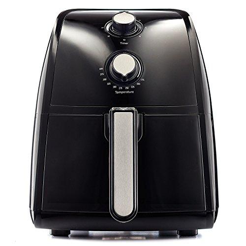 BELLA-14538-1500W-Electric-Hot-Air-Fryer-with-Removable-Dishwasher-Safe-Basket-25-L-Black-0