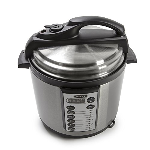BELLA-6-Quart-Pressure-Cooker-with-10-pre-set-functions-and-Searing-Technology-1000-watt-0-0