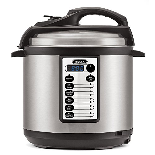 BELLA-6-Quart-Pressure-Cooker-with-10-pre-set-functions-and-Searing-Technology-1000-watt-0