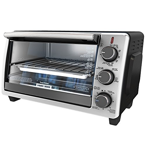 BLACKDECKER-TO1950SBD-6-Slice-Convection-Countertop-Toaster-Oven-Includes-Bake-Pan-Broil-Rack-Toasting-Rack-Stainless-SteelBlack-Convection-Toaster-Oven-0-0