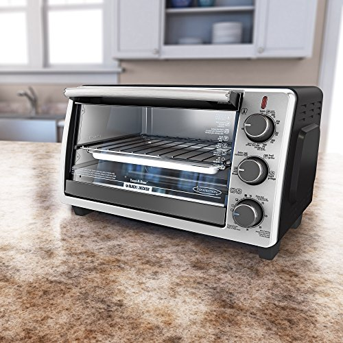 BLACKDECKER-TO1950SBD-6-Slice-Convection-Countertop-Toaster-Oven-Includes-Bake-Pan-Broil-Rack-Toasting-Rack-Stainless-SteelBlack-Convection-Toaster-Oven-0-1