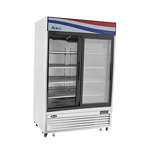 BRAND-NEW-COMMERCIAL-2-Sliding-glass-door-refrigerator-Stainless-Steel-0-0