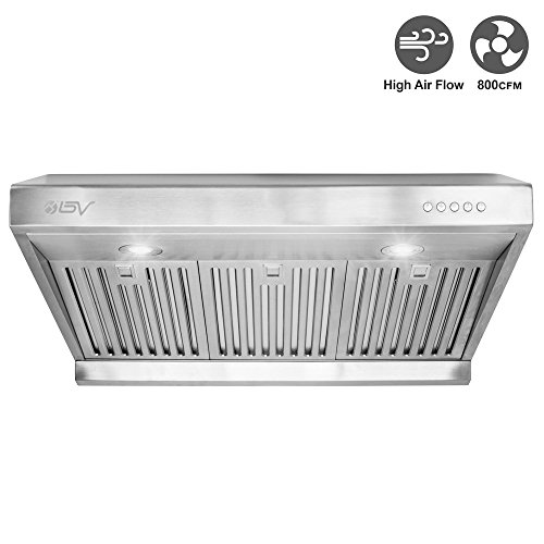 BV-Stainless-Steel-30-Under-Cabinet-High-Airflow-800-CFM-Ducted-Range-Hood-with-LED-Lights-0