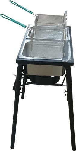 Ballington-Outdoor-Two-Tank-Fryer-2-Baskets-Stainless-Steel-Oil-Tank-0