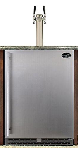 Beer-Meister-dual-tower-with-stainless-door-built-in-kegerator-Premium-Series-0
